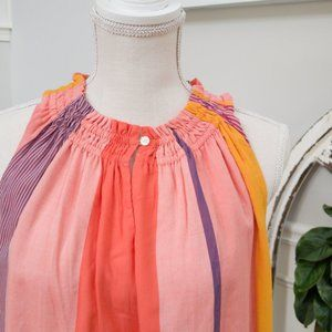 Sundrenched Dress in Oranges, Yellows and Violets